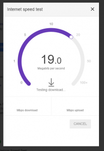 Google Speed Test Results
