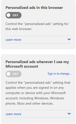 Disable ADS 2