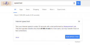 Google Speed Test