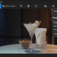 Use the Windows 10 Photos App to quickly resize images.